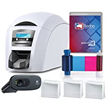 Magicard Enduro 3e Dual Sided ID Card Printer & Complete Supplies Package with Silver Edition Bodno ID Software