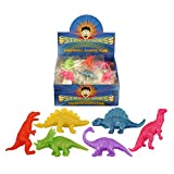 Henbrandt 12 x Dinosaurs Stretchy Stretchies Party Bag Fillers Favours Toys - Assorted Colours