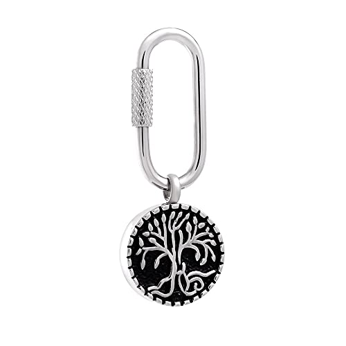 Amazon.com: Tree of Life - Cadena de acero inoxidable para ...