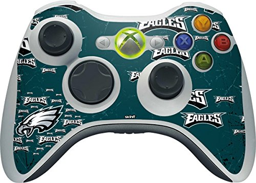 Skinit NFL Philadelphia Eagles Xbox 360 Wireless Controller Skin - Philadelphia Eagles Blast Design - Ultra Thin, Lightweight Vinyl Decal Protection