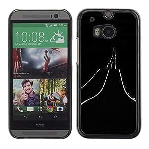 For HTC One M8 Case , Neon Freedom Desert Night Drive - Diseño Patrón Teléfono Caso Cubierta Case Bumper Duro Protección Case Cover Funda