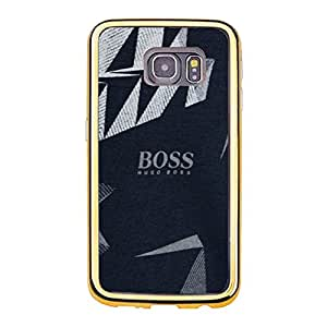 Great Luxury Hugo Boss Theme Mobile Case TPU Golden Border series for Samsung Galaxy S6 Edge