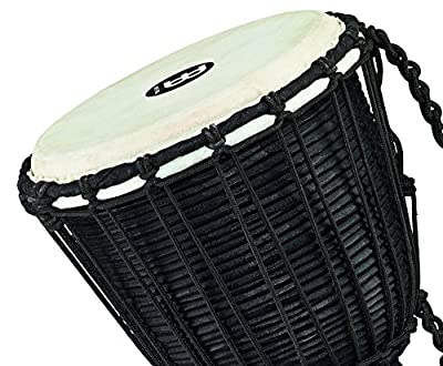 Meinl Percussion HDJ3-M Black River Series Headliner Rope Tuned Djembe, Medium: 10-Inch Diameter by AOHY9