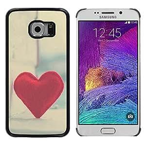iKiki Tech / Estuche rígido - Love Hipster Heart - Samsung Galaxy S6 EDGE SM-G925