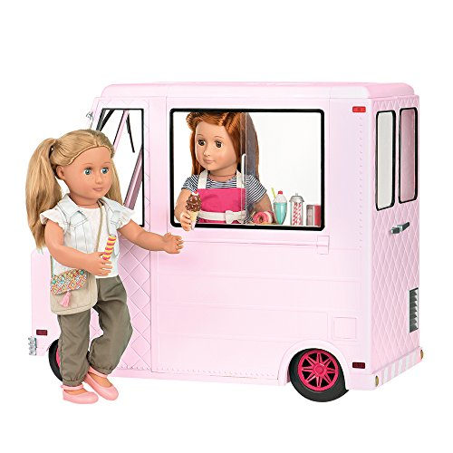 Our Generation Ice Cream Truck 18 inch Doll, Pink, 18'' by Our Generation