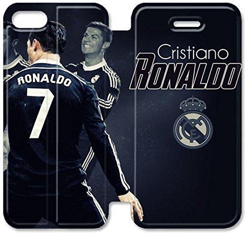 Coque iPhone 5 5S Coque Cuir, Klreng Walatina® PU Cuir de portefeuille Coque de protection pour Coque iPhone 5 5S Design By Cristiano Ronaldo R3K5Te