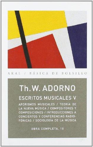 Descargar Libro Escritos Musicales V: 5 Theodor W. Adorno