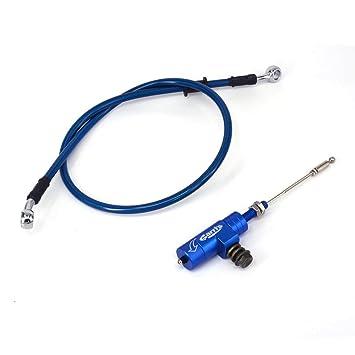 Azul Universal CNC embrague hidráulico Slave cilindro tirador con 1200 mm freno radiador Oil Manguera línea