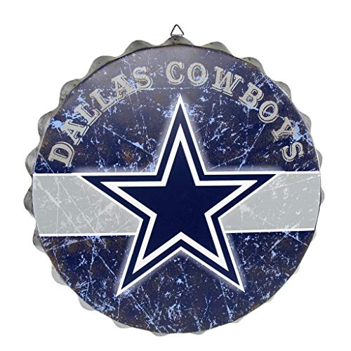 FOCO NFL Dallas Cowboys Metal Distressed Bottlecap Wall Signmetal Distressed Bottlecap Wall Sign, Team Color, One Size