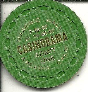 masonic hall casinorama arcadia california vintage green