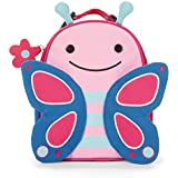 Skip Hop Baby Zoo Little Kid and Toddler Insulated and Water-Resistant Lunch Bag, Multi Blossom Butterfly