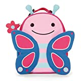 Skip Hop Zoo Kids Insulated Lunch Box, Blossom Butterfly, 9'x3.25'x7.5', Pink