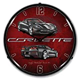 Lighted C7 Corvette Cyber Grey Clock For Sale