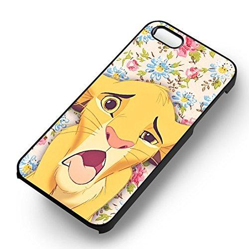Vintage Flowers et Simba pour Coque Iphone 6 et Coque Iphone 6s Case (Noir Boîtier en plastique dur) V6R6AJ