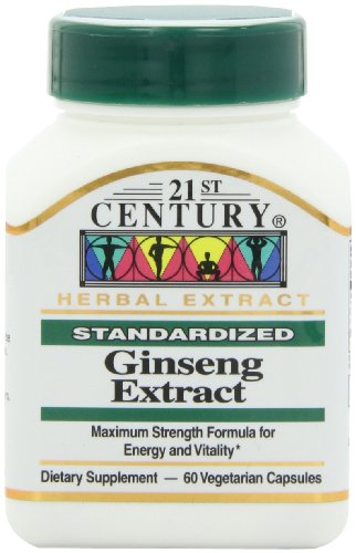 Ginseng 60 Capsules (21st Century Ginseng Extract Veg Capsules, 60 Count)