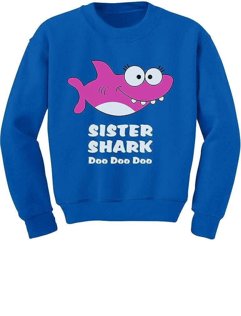 Tstars - Sister Shark Doo Doo Gift for Big Sister Toddler/Kids Sweatshirt GaMPM00gf5