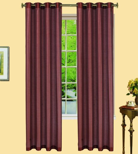 (Western by Artistic Linen 6-Grommet Window Curtain Panel, 55