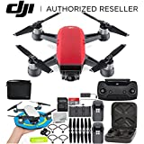 DJI Spark Portable Mini Drone Quadcopter Fly More Combo Palm Landing Pad Bundle (Lava Red)