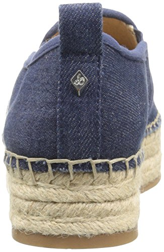 Sam Edelman Kvinners Carrin Plattform Espadrille Slip-on Sneaker Navy Chambray