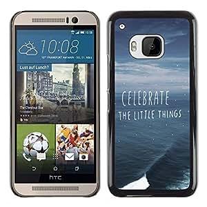 Caucho caso de Shell duro de la cubierta de accesorios de protección BY RAYDREAMMM - HTC One M9 - Things Ocean Storm Summer