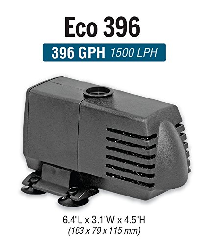 EcoPlus 396 GPH (1500 LPH, 20W) Submersible Water Pump w/ 6 ft Power Cord | Aquarium, Fish Tank, Fountain, Pond, Hydroponics by EcoPlus (Image #3)