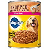 Pedigree Chopped Ground Dinner With Beef Adult Canned Wet Dog Food, (12) 22 oz. Cans For Sale
