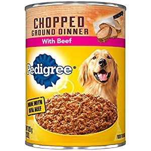 Pedigree Chopped Ground Dinner With Beef Adult Canned Wet Dog Food, (12) 22 Oz. Cans 89