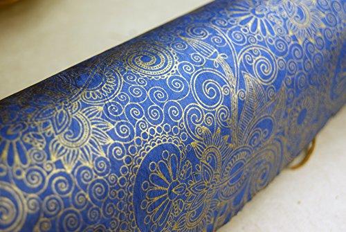 Sapphire Swirl Wizard Pattern Handmade Gift Wrapping Paper 3 Pack