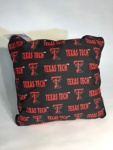 FKS Cushions, Etc. Officially Licensed College Throw Pillows-NCAA Decorative Accent Pillows (Texas Tech Red Raiders)