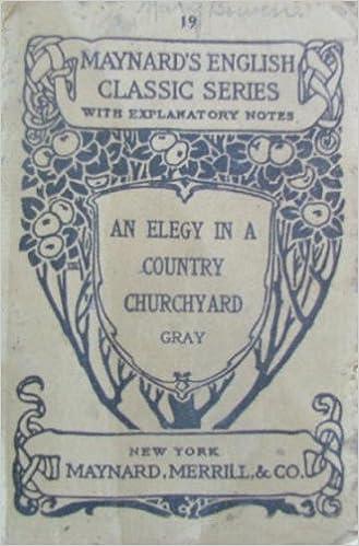 elegy in a country churchyard