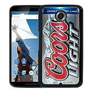 New Fashion Custom Designed Cover Case For Google Nexus 6 With coors light beer can Black Phone Case