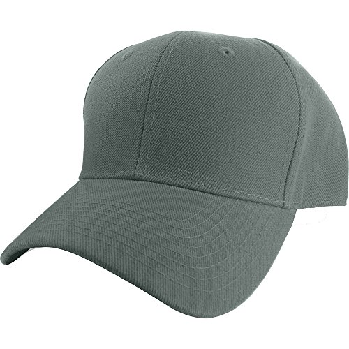 Plain Curved Fitted Sized Baseball Cap ,Dark Gray8