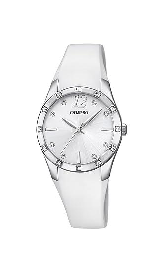 Calypso Reloj Análogo clásico para Mujer de Cuarzo con Correa en Plástico K5714/1: Calypso: Amazon.es: Relojes