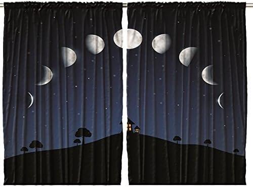 Ambesonne Moon Curtain