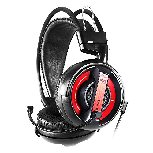 (E-Blue EHS013RE Cobra Professional Gaming Headset, Red)