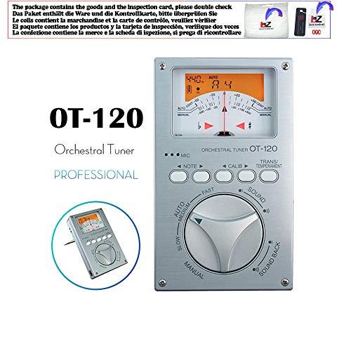 Professional Orchestral Tuner Chromatic Tuner Bass/Saxophone/Violin/Flute Tuner Universal Tuner,OT-120