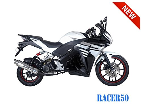 SmartDealsNow 49cc Sports Bike Racer50 Automatic Bike Racer 50 Motorcycle by TAO (Image #6)
