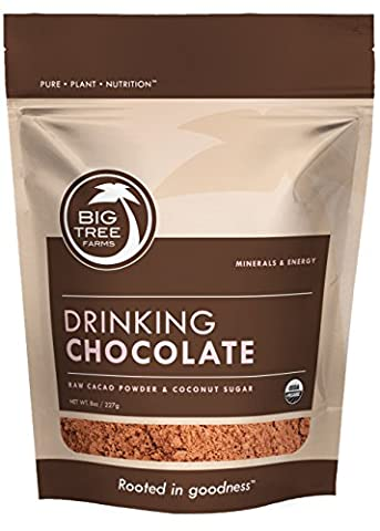 Big Tree Farms Cold Processed, Certified Organic Drinking Chocolate with Raw Cacao Hot/Cold Chocolate Mix, 8 - Hot Chocolate With Cocoa Powder
