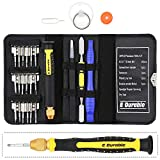 E.Durable Pro Bit Driver Kit, Precision Electronics Multi-Tool Screwdriver Set, Safe Opening Tool, with ESD Tweezers, Portable Double-ended Metal Spudger, Plastic Pry Bar, etc