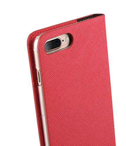 Melkco Fashion Cocktail Series slim Flip Case for Apple iPhone 7 Plus(5.5')(Fluorescent Red)_LF2232