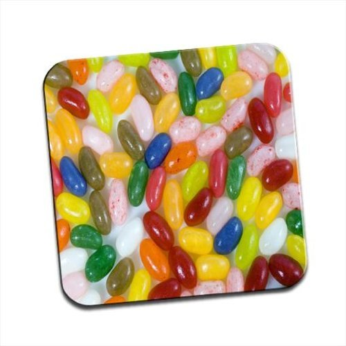 Multi Flavoured Jelly Beans Red, Green, Pink, Blue Single Coaster