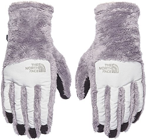 The North Face Womens Denali Thermal Etip Glove Metallic Silver Lunar Ice Grey Size Medium