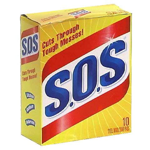 S.O.S. Steel Wool Soap Pads 10 pads