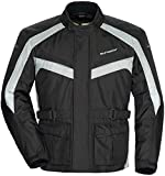 TourMaster Saber 4.0 Men's 3/4 Outer Shell Textile Motorcycle Jacket (Silver/Black, Medium)