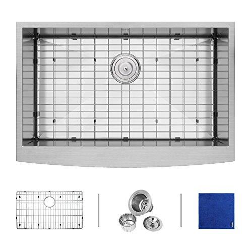 Undermount Two Kit Installation (Enbol 33 inch 16 Gauge Apron Front Farmhouse Stainless Steel Kitchen Sink)