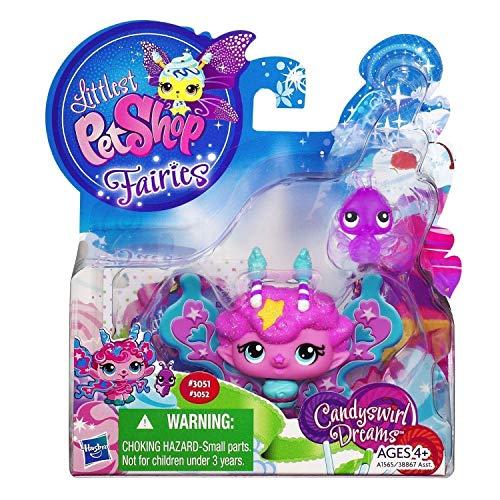 (Littlest Pet Shop Fairies 2-Pack Candyswirl Dream Fluffy Sweet Fairy & Ladybug)