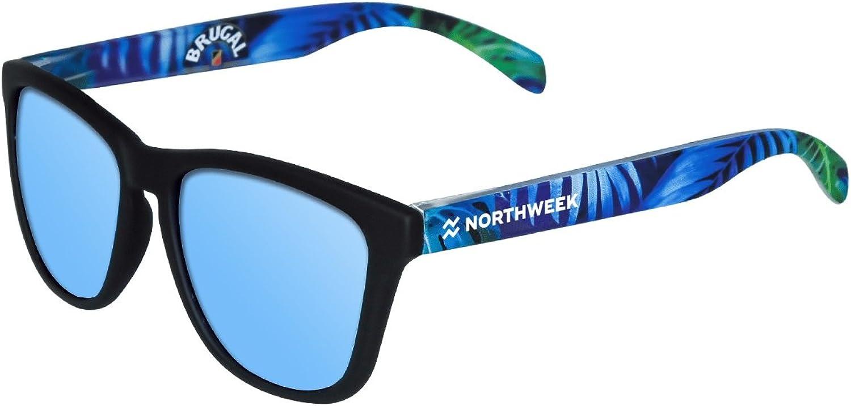 NORTHWEEK Brugal Edition Gafas de sol, Black/Blue, 45 Unisex