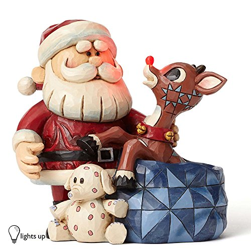 Rudolph Traditions by Jim Shore RRNJS FIG Santa Rudolph W L Figurine