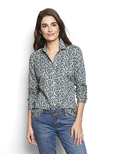 Orvis Women's Printed Cotton Voile Shirt, 14