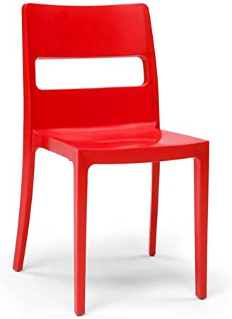 Scab 6 Chaises rouges design SAI Lot de 6 deco